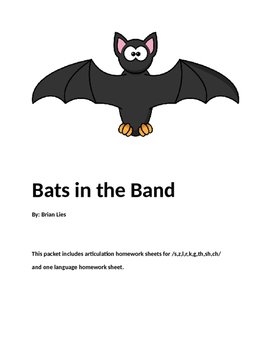 Speech Therapy Homework for:  Bats in the Band
