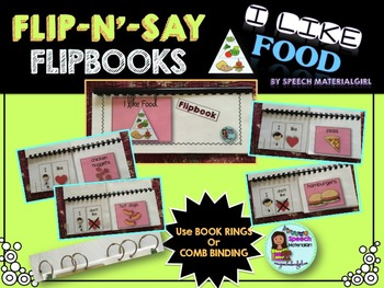 Speech Therapy I like FOOD Flipbook booklet Autism express