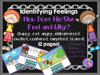 Speech Therapy Identify Feelings Emotions How does he/she