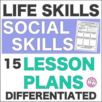 Speech Therapy Life Skill Social Skills: 15 Differentiated