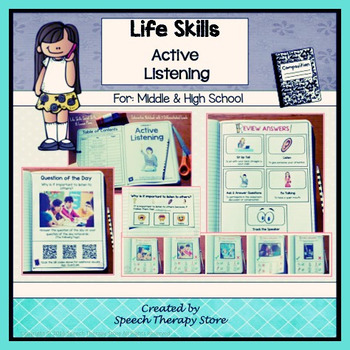 Speech Therapy Life Skills Active Listening: Differentiate