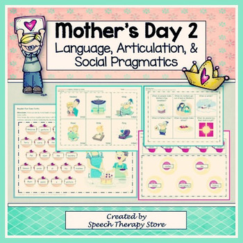 Speech Therapy Mother's Day 2: Language, Articulation, & S
