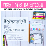 Speech Therapy: First Day Flap Book + extras
