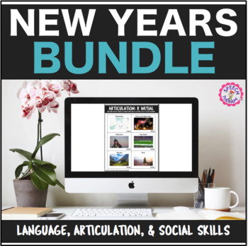 Speech Therapy New Years Bundle: Language, Articulation, &