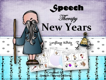 Speech Therapy New Years Language Bundle