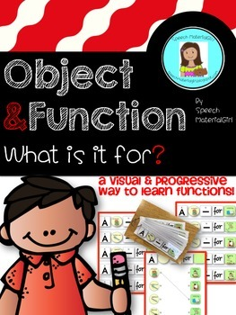 Speech Therapy Object Function Identify and make sentence Visual!