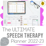 Speech Therapy Yearly Organizer & Planner