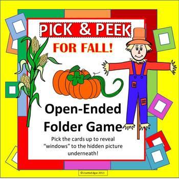 Fall PICK & PEEK! Speech Therapy Game