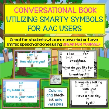Personalized Conversation Book for AAC Users Utilizing Sma
