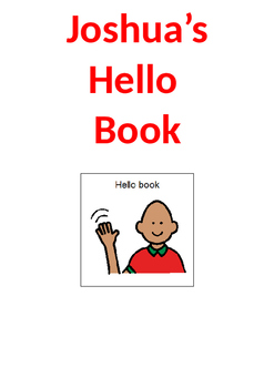 Speech Therapy Resource: Hello and Conversational Starter
