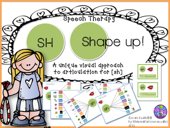 Speech Therapy SH Articulation Activity w/ VISUAL Graphic
