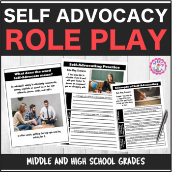 Speech Therapy Self-Advocacy Role Play Activity for High S