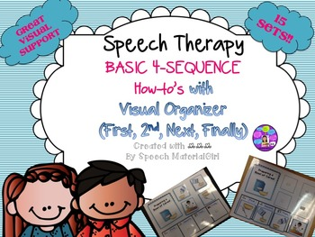 Speech Therapy Simple Basic 4-Sequence cards how-to Visual