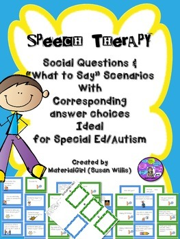 Speech Therapy Social Communication Questions What to Say