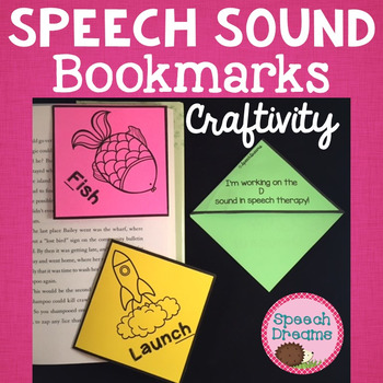 Speech Therapy Sound Bookmark Craft {all sounds year 'round}