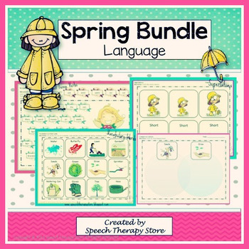 Speech Therapy Spring Language Bundle
