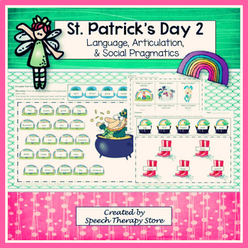 Speech Therapy St. Patrick's Day 2: Language, Articulation