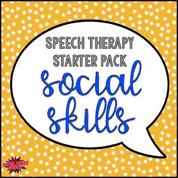 Speech Therapy Starter Pack- Social Skills