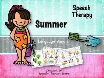 Speech Therapy Summer Language Bundle