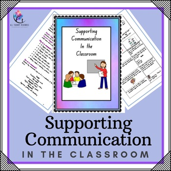 Speech Therapy - Supporting Comunication In the Classroom