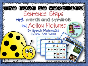 Speech Therapy The noun is verbing grammar w/ action pictu