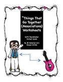 Speech Therapy Things That Go Together ASSOCIATIONS Worksh