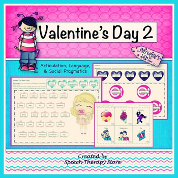 Speech Therapy Valentine's Day 2 Bundle: Lang, Articulatio