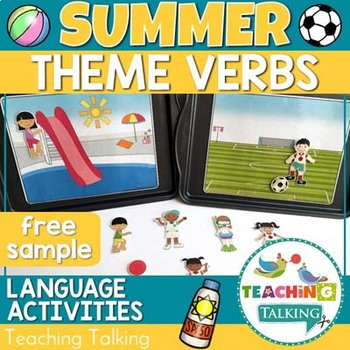 Speech Therapy: Verbs for Summer - (SVO Phrases) - {FREEBIE!}