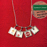 Speech Therapy Visual Symbol Necklace for CVA patients