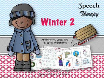 Speech Therapy Winter 2 Bundle: Language, Articulation, &