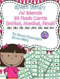 Speech Therapy articulation /s/ blends initial, medial, fi