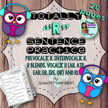 Speech Therapy word/sentence prevocalic r intervocalic ble