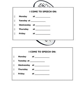 Speech Time Folder Reminder