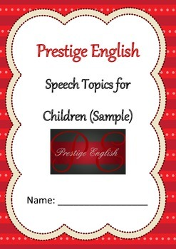 Speech Topics for Children SAMPLE - English Speaking - Free
