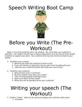 Speech Writing Boot Camp
