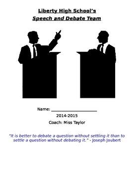 Speech and Debate Team Packet