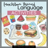 Speech and Language Activities- Lunch Room Edition