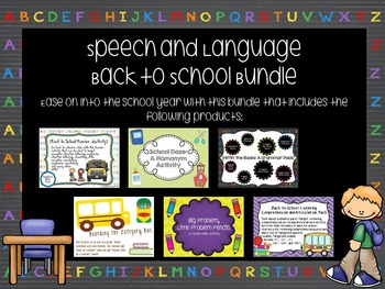 Speech and Language Back to School Bundle
