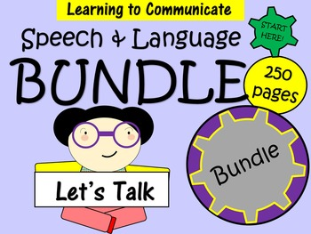 Speech and Language Bundle - 250 pages of activities to de