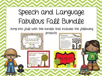 Speech and Language Fabulous Fall Bundle