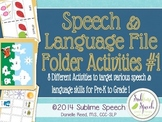 Speech and Language File Folder Activities 1