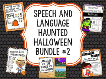 Speech and Language Haunted Halloween Bundle #2