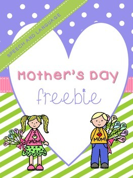 Speech and Language Mother's Day FREEBIE!