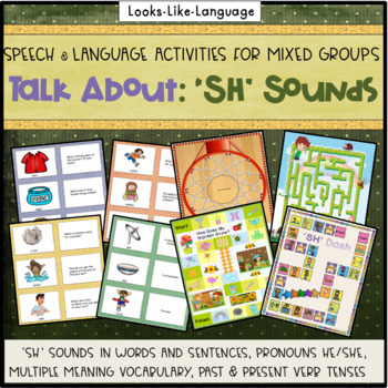 Articulation & Language Games: 105 Picture Cards for 'SH' Sounds