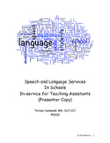Speech and Language Services In Schools In-service for Tea