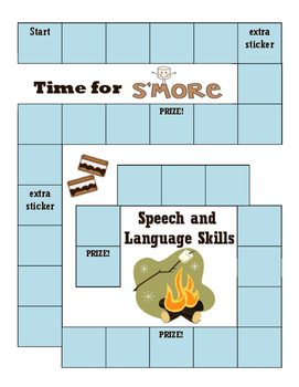 Speech and Language Sitcker Chart-Theme 8 Camping / S'Mores