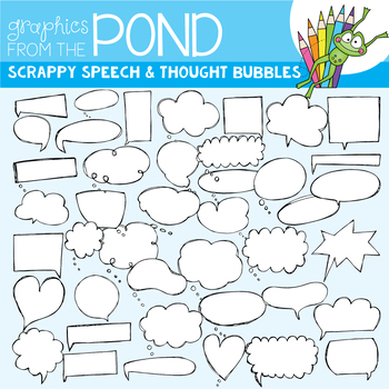 Speech and Thought Bubble Clipart