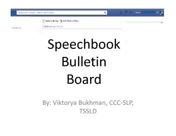 Speech Book Bulletin Board Kit and Activity