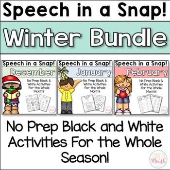 Speech in a Snap! Winter Bundle