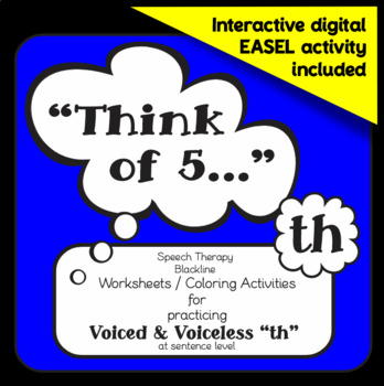 """Speech therapy – Voiced / Voiceless 'th' sentence level: """""""